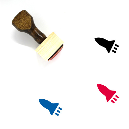 Missile Wooden Rubber Stamp No. 44