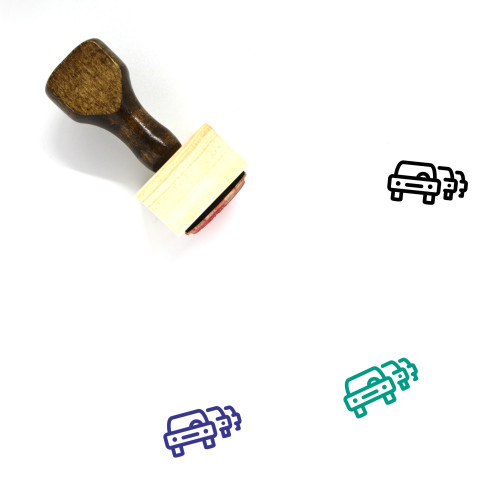 Traffic Jam Wooden Rubber Stamp No. 18