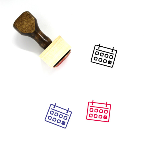 Deadline Wooden Rubber Stamp No. 16
