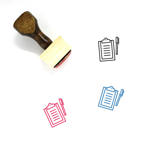 Clipboard Wooden Rubber Stamp No. 121