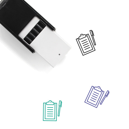 Clipboard Self-Inking Rubber Stamp No. 121
