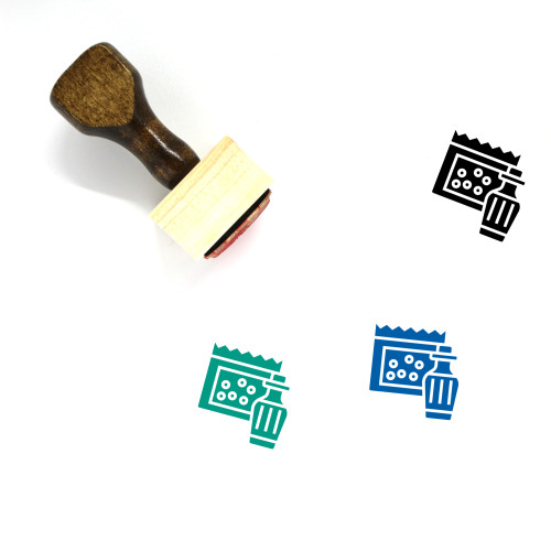Cola Wooden Rubber Stamp No. 38