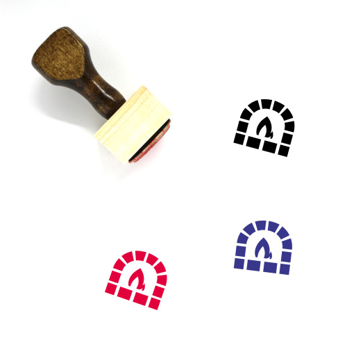Brick Oven Wooden Rubber Stamp No. 6