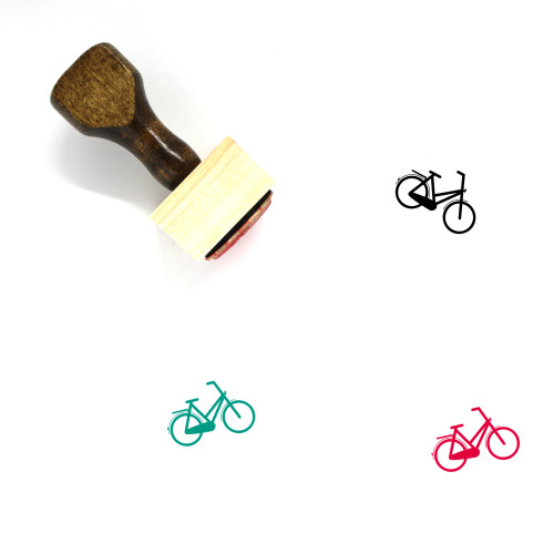 Bicycle Wooden Rubber Stamp No. 201