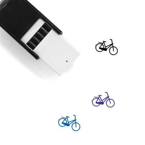 Bicycle Self-Inking Rubber Stamp No. 201