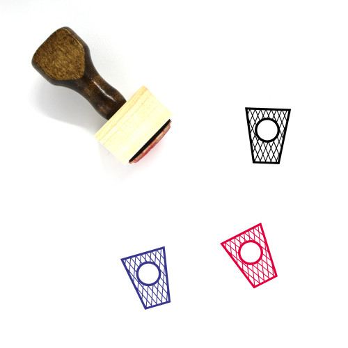 Trash Can Wooden Rubber Stamp No. 136