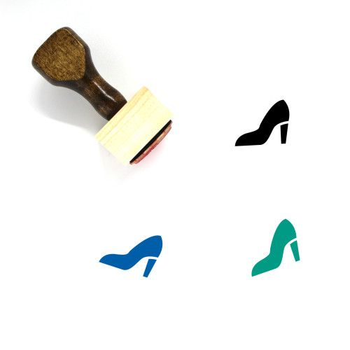 High Heel Wooden Rubber Stamp No. 81