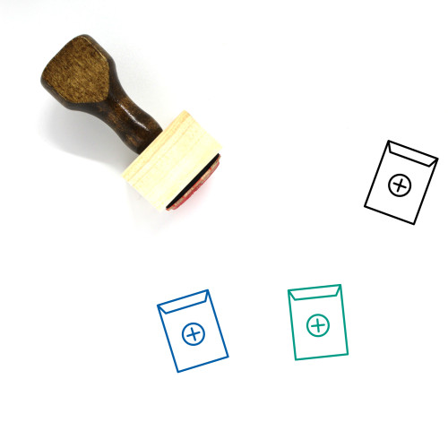 Aid Wooden Rubber Stamp No. 51
