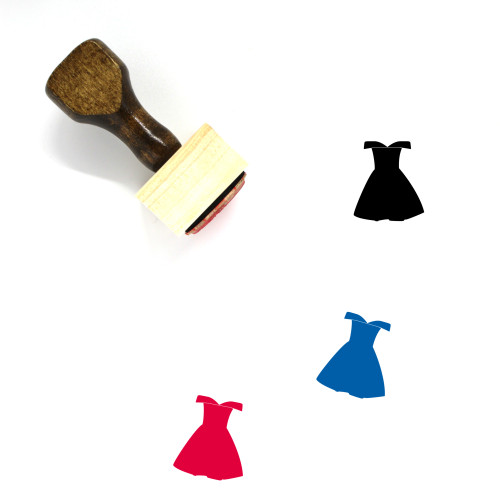 Dress Wooden Rubber Stamp No. 288