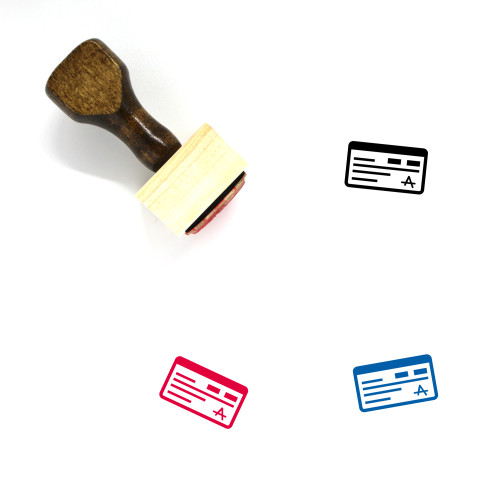 Cheque Wooden Rubber Stamp No. 41