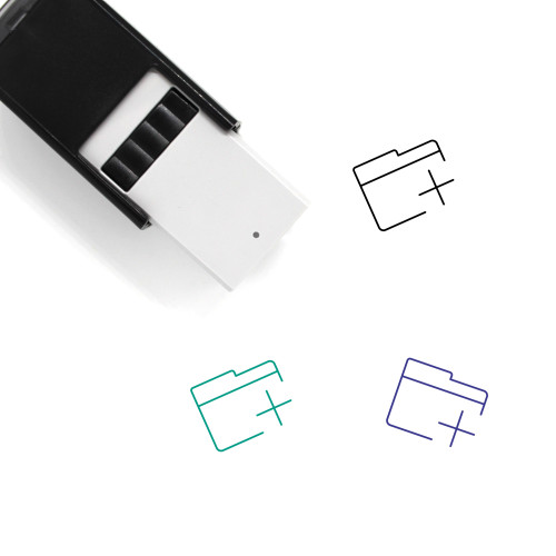 Add Folder Self-Inking Rubber Stamp No. 23