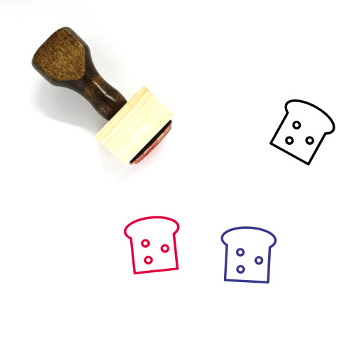 Bread Wooden Rubber Stamp No. 71