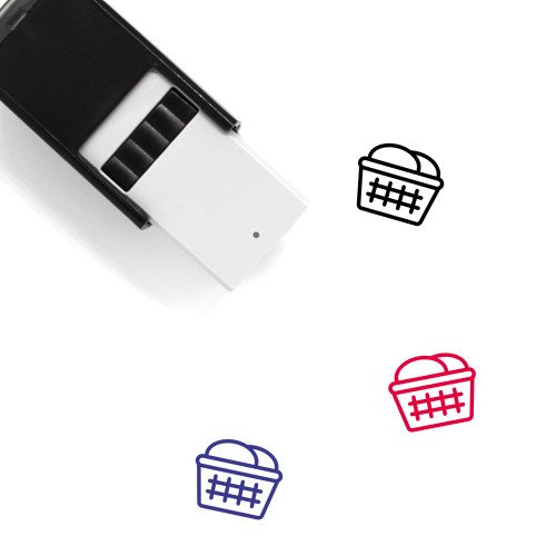 Laundry Basket Self-Inking Rubber Stamp No. 21