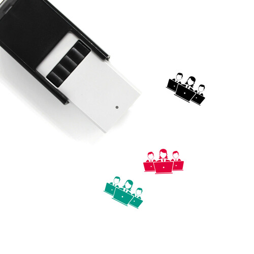 Laptop Users Self-Inking Rubber Stamp No. 7