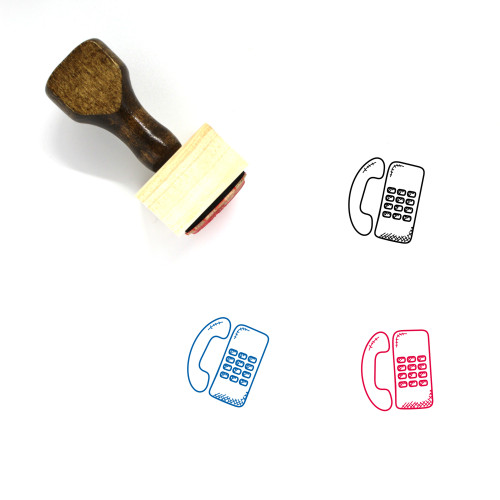 Telephone Wooden Rubber Stamp No. 135
