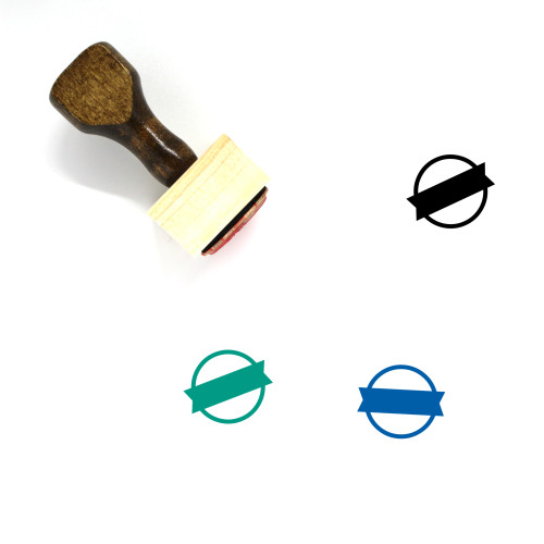 Ribbon Sign Wooden Rubber Stamp No. 2