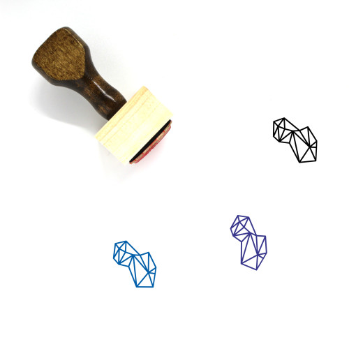 Rock Wooden Rubber Stamp No. 15