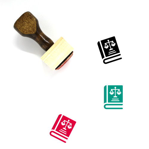 Law Book Wooden Rubber Stamp No. 37