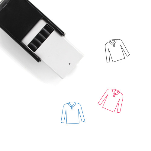 Long Sleeve Polo Self-Inking Rubber Stamp No. 1