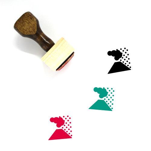 Volcano Ash Wooden Rubber Stamp No. 2