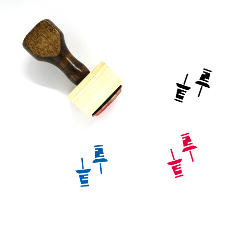 Pushpin Wooden Rubber Stamp No. 30