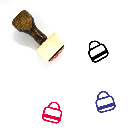 Bags Wooden Rubber Stamp No. 116