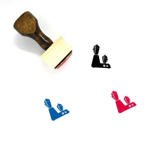 Mixer Wooden Rubber Stamp No. 69
