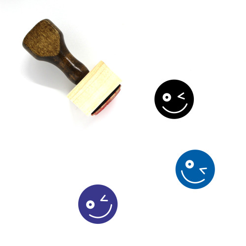Smile Wooden Rubber Stamp No. 218
