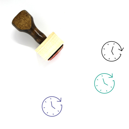 Hours Wooden Rubber Stamp No. 42