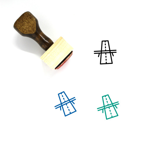 Road Wooden Rubber Stamp No. 89