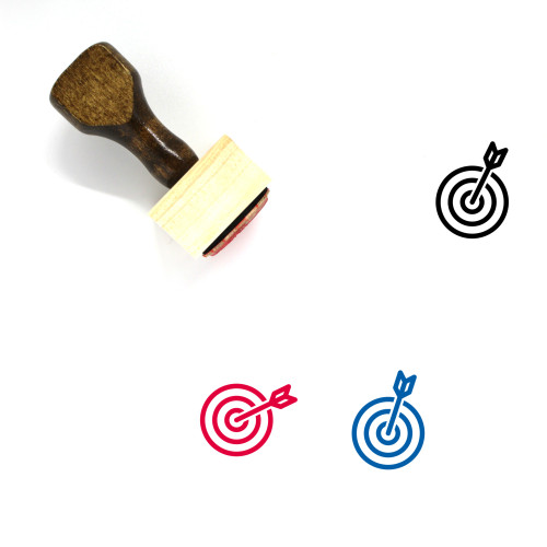 Aim Wooden Rubber Stamp No. 82