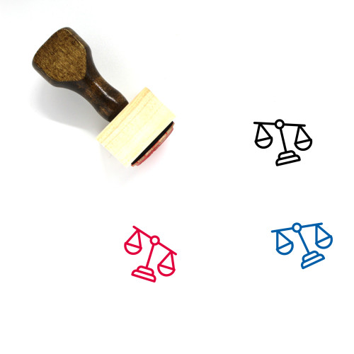 Law Wooden Rubber Stamp No. 299