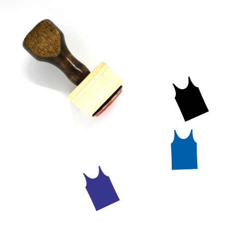 Tank Top Wooden Rubber Stamp No. 71
