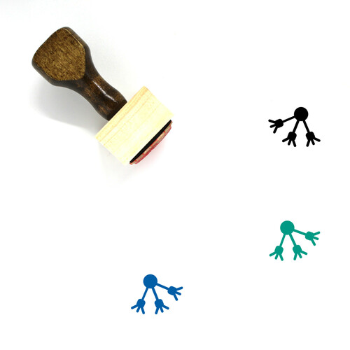 Interaction Wooden Rubber Stamp No. 27