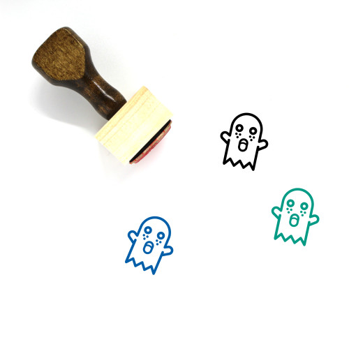Ghost Wooden Rubber Stamp No. 50