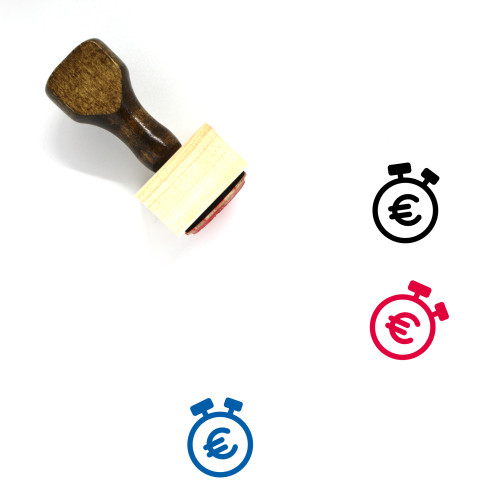Euro Wooden Rubber Stamp No. 111