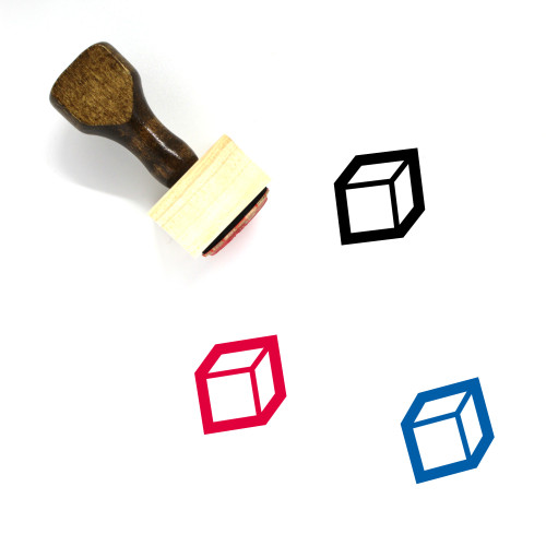 Cube Wooden Rubber Stamp No. 87