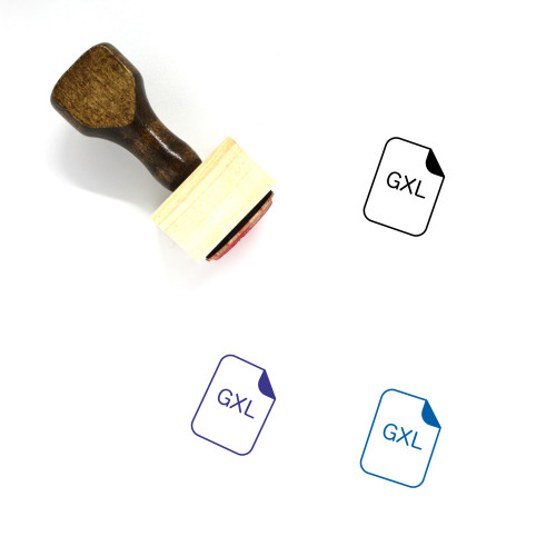 Extension Wooden Rubber Stamp No. 34
