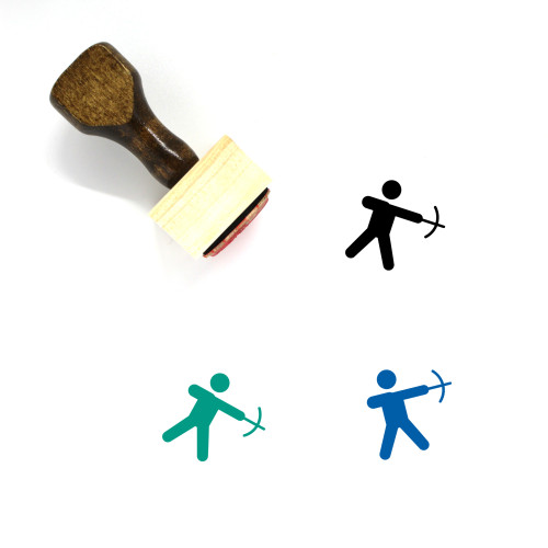 Archery Wooden Rubber Stamp No. 25