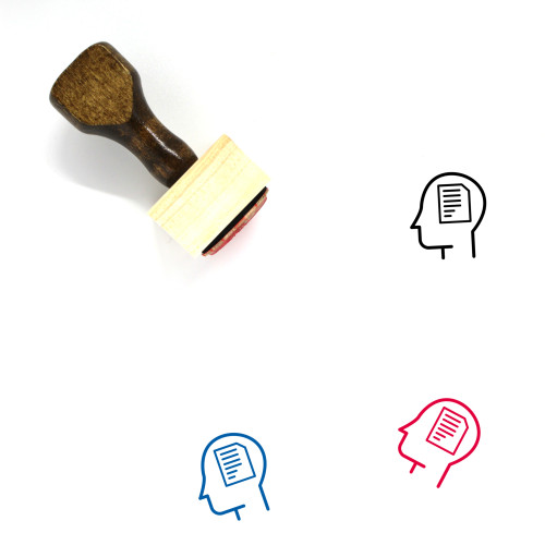 Applicant Wooden Rubber Stamp No. 13