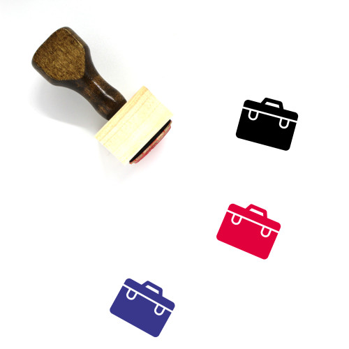 Bags Wooden Rubber Stamp No. 117