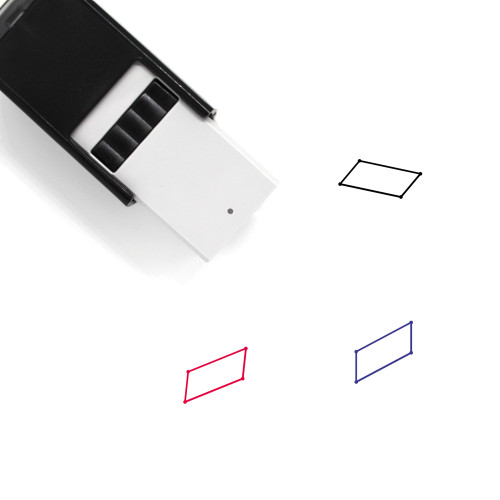Parallelogram Self-Inking Rubber Stamp No. 38