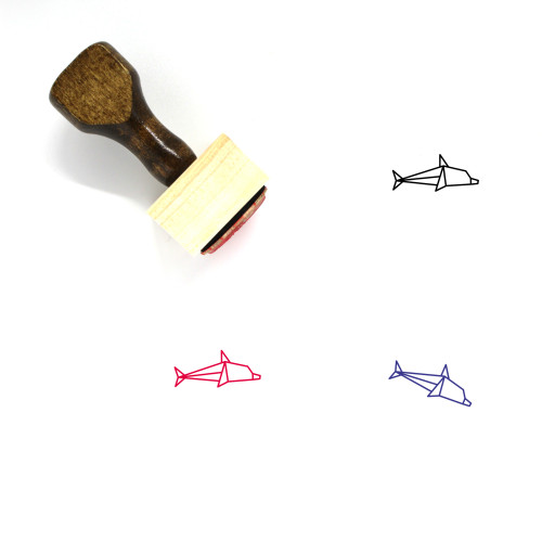Dolphin Wooden Rubber Stamp No. 28