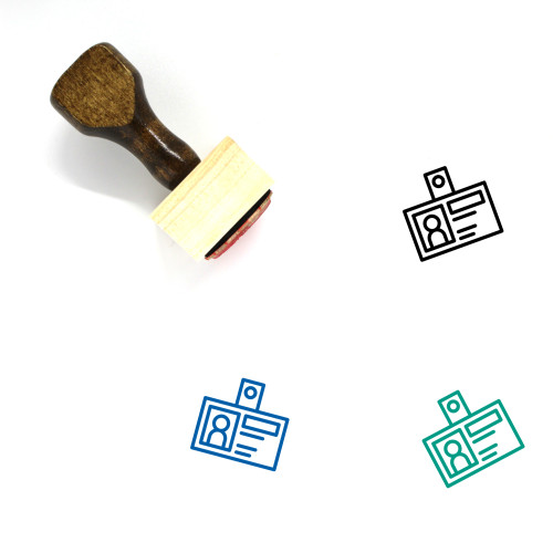 Identification Wooden Rubber Stamp No. 85