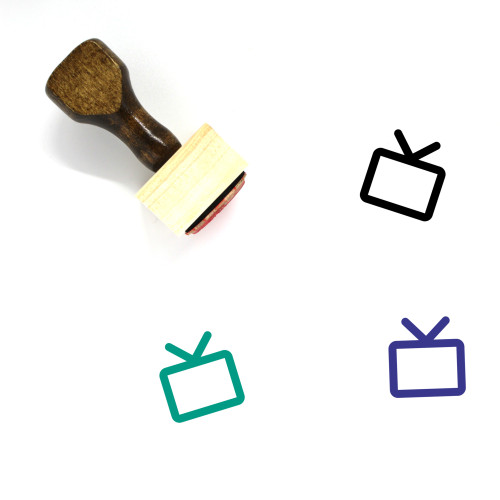 Television Wooden Rubber Stamp No. 177