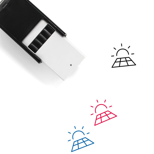Solar Self-Inking Rubber Stamp No. 38