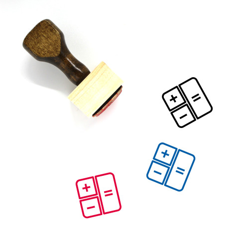 Calculate Wooden Rubber Stamp No. 81