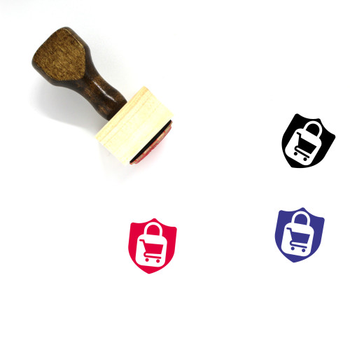 Safe Shopping Wooden Rubber Stamp No. 5