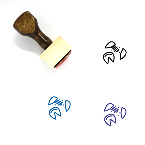 Fortune Cookie Wooden Rubber Stamp No. 16