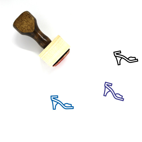 High Heel Wooden Rubber Stamp No. 82